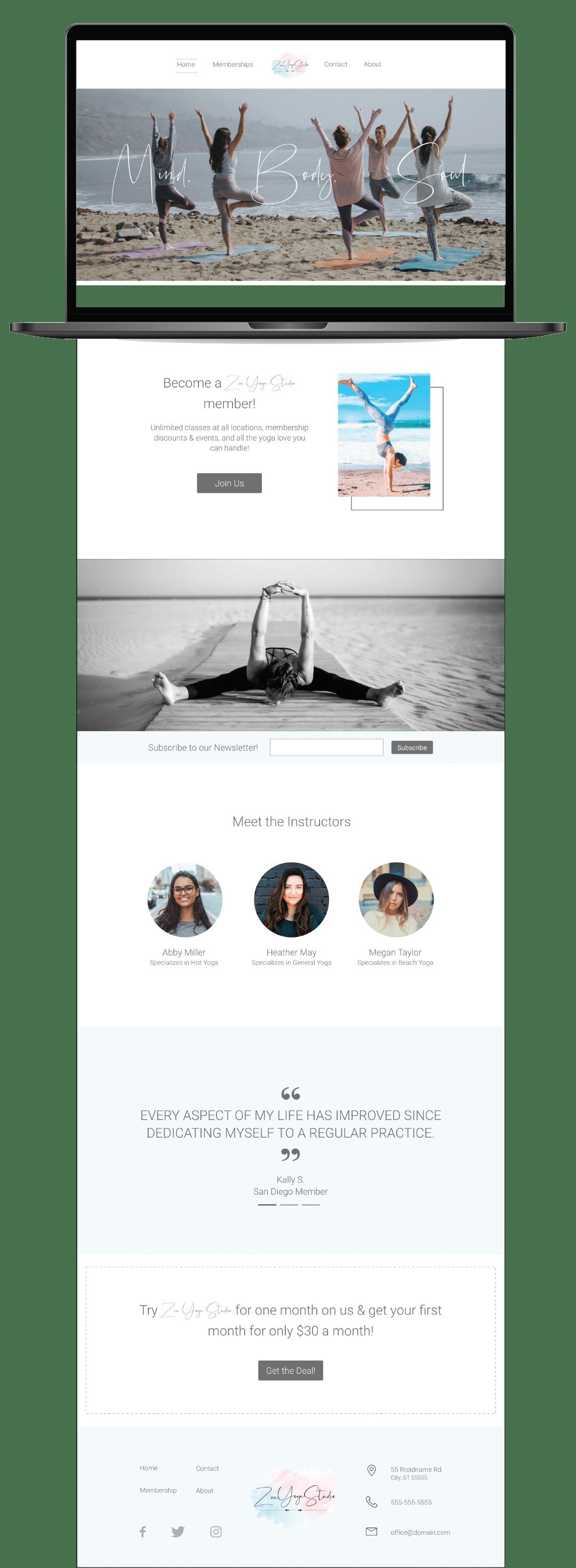 Zen-Website-laptop